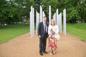 Martin & Felicity at the July 7th memorial in Hyde Park, London